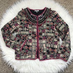 World Market Boho Gypsy Banjara Quilted Jacket S/M